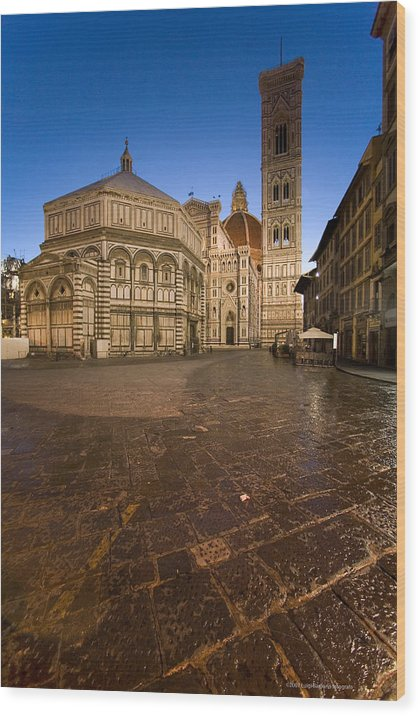 Italy Wood Print featuring the photograph Sunrise In Florence 2 by Luigi Barbano BARBANO LLC