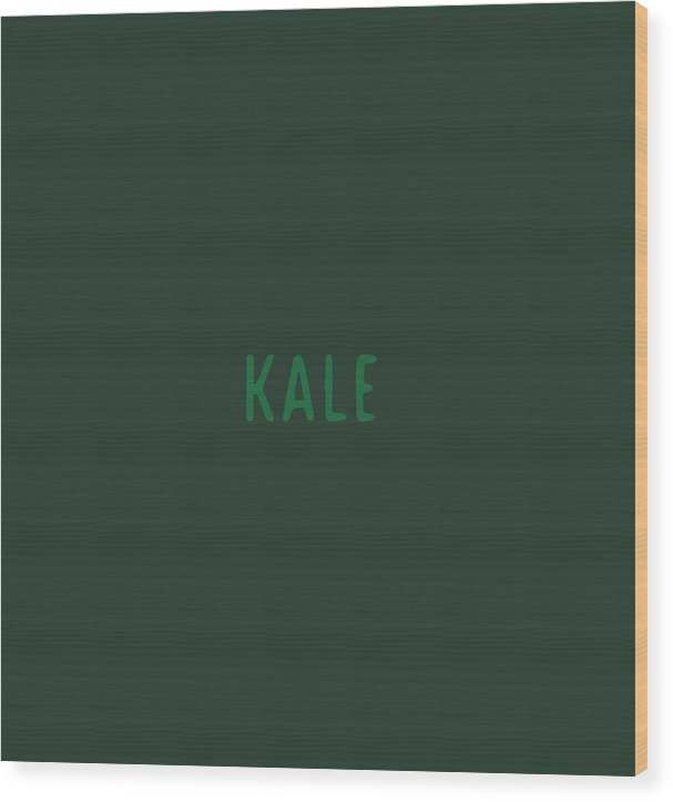 Text Wood Print featuring the digital art Kale by Cortney Herron