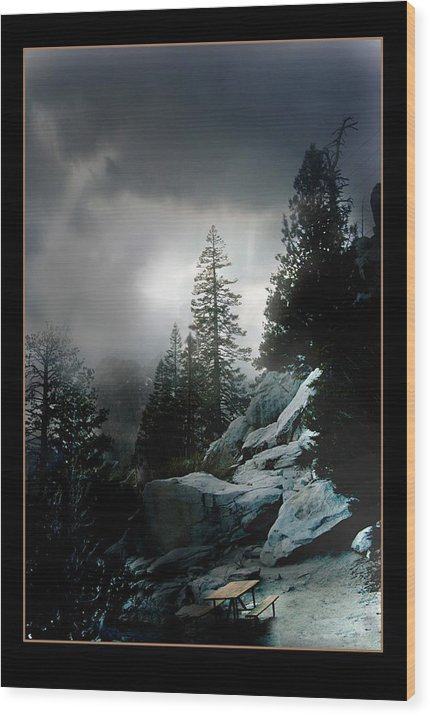 Landscape Wood Print featuring the photograph Above Palm Springs by Richard Gordon