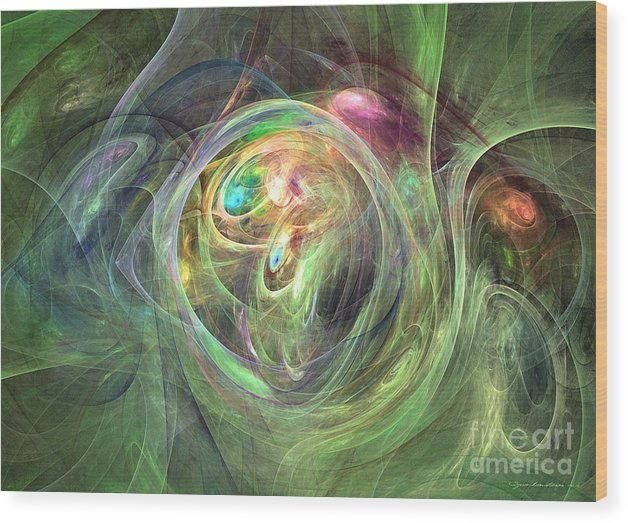 Abstract Fine Art Wood Print featuring the mixed media Being Bold - Abstract Art by Abstract art prints by Sipo