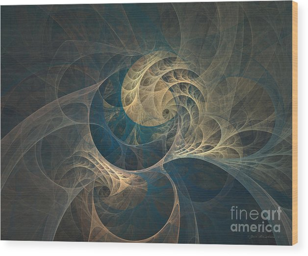 Abstract Fine Art Wood Print featuring the mixed media Chocolate Dream - Abstract Art by Abstract art prints by Sipo