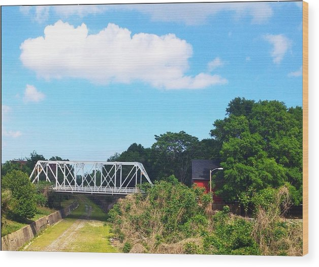 Wood Print featuring the pyrography Country Bridge by Alecia Pashia