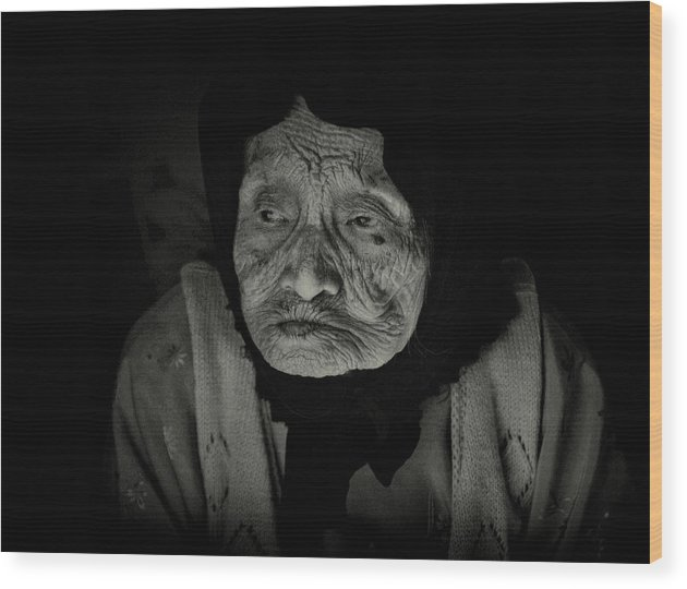 Old Woman Wood Print featuring the photograph Old Woman Of Ha Long Bay by Randy Cummings