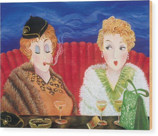 Cocktails Wood Print featuring the painting Some Like It Hot by Susan Rinehart