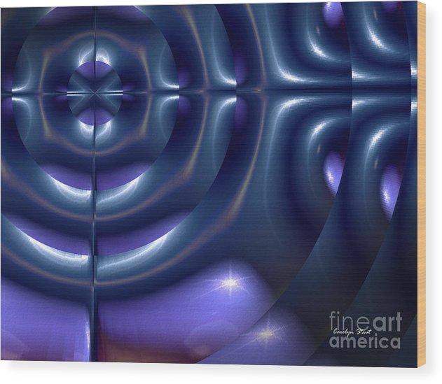 Blue Abstract Pattern Modern Digital Design Wood Print featuring the digital art Chosen by Carolyn Staut
