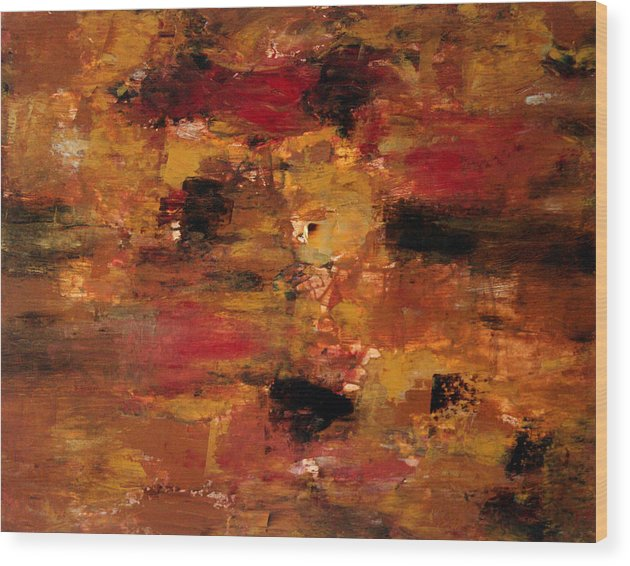 Abstract Art Wood Print featuring the painting I Thought It Was Over by Shiree Gilmore