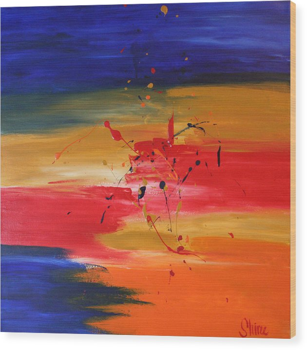 Abstract Painting Wood Print featuring the painting For My Husband by Shiree Gilmore