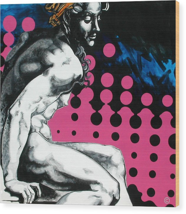 Pop Wood Print featuring the painting Ignudo by Jean Pierre Rousselet