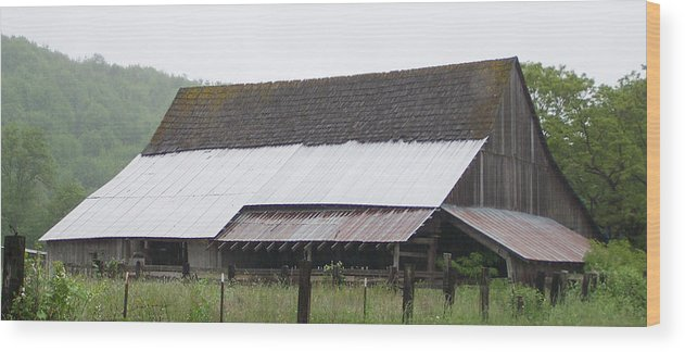 Old Wood Print featuring the photograph Old Big Barn Washington State by Laurie Kidd