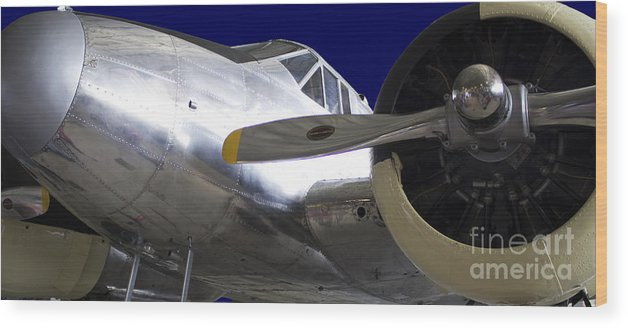 Airplane Wood Print featuring the photograph 1943 Beechcraft C-45 Expediter by Steven Parker