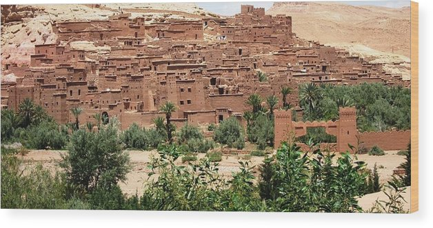 Morocco Wood Print featuring the photograph Ait Ben Haddou 6 by Teresa Ruiz