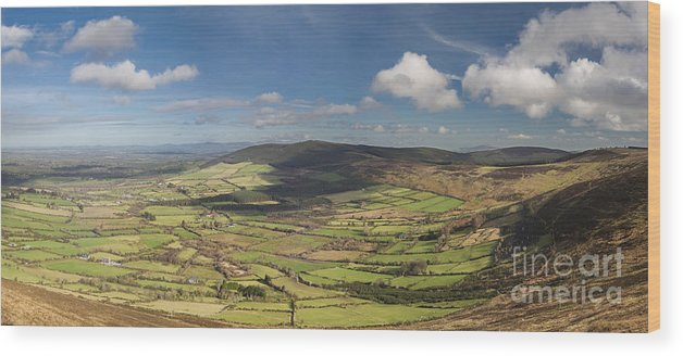 Blackstairs Mountains Wood Print featuring the photograph Blackstairs Mountains 6 by Michael David Murphy