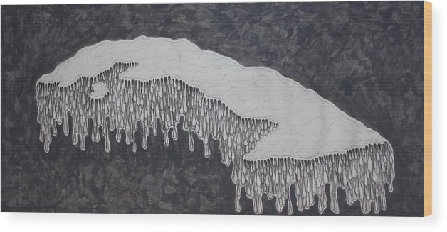 Drawing Wood Print featuring the drawing Hurts by Lui Rodrigue