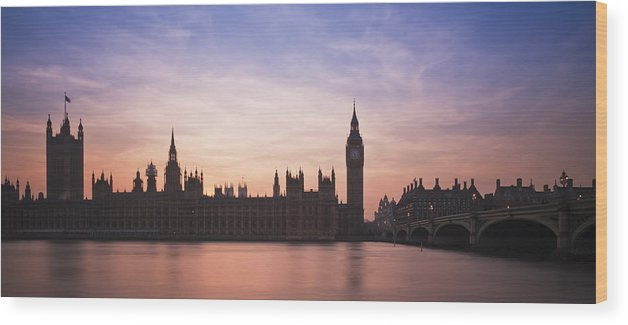 London Wood Print featuring the photograph London Nights One by Matthew Gibson