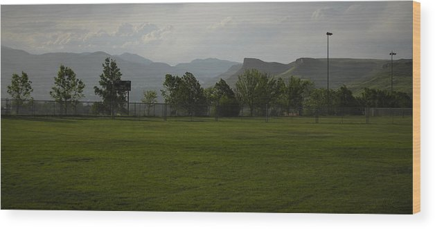 Colorado Wood Print featuring the photograph Stormy Golden Colorado by Chris Thomas