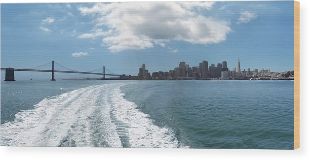 Boat Wood Print featuring the photograph Sweeping Away From The City by Jo Ann Snover