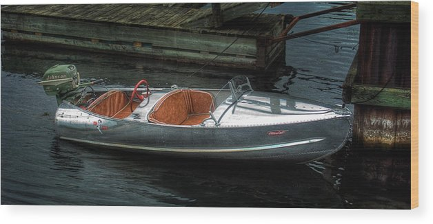 Aluminum Wood Print featuring the photograph Cute Boat - 1948 Feather Craft by John Herzog