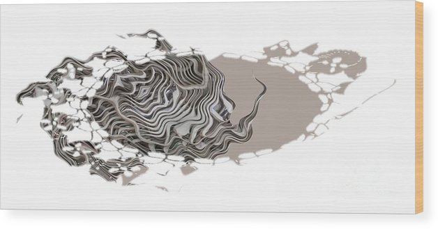 Abstract Wood Print featuring the digital art 401k by Ron Bissett