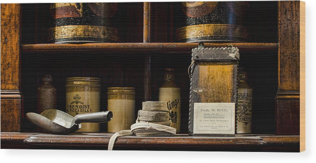 Shop Wood Print featuring the photograph Shop Counter by Heather Applegate