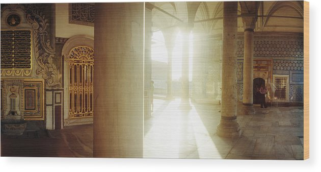 Photography Wood Print featuring the photograph Interiors Of Topkapi Palace by Panoramic Images