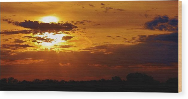 Sunset Wood Print featuring the photograph Passing Of Another Day by Bruce Bley