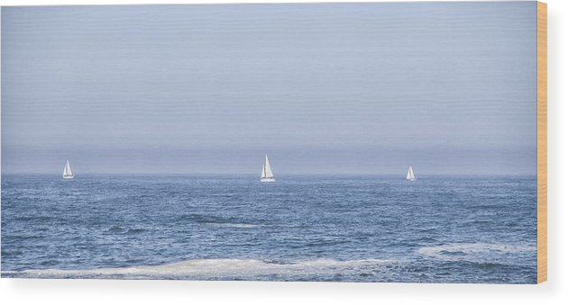 Water Wood Print featuring the photograph Sailboats by Paulo Goncalves