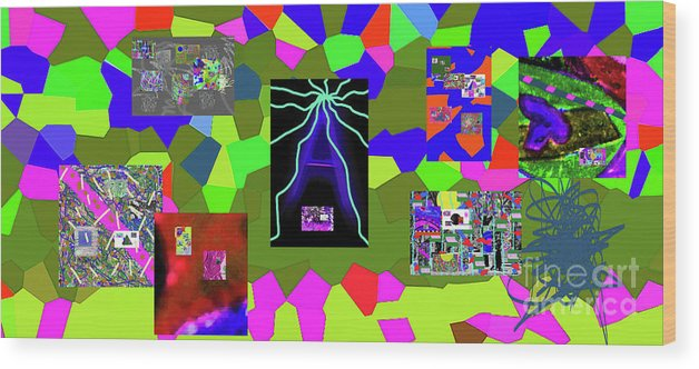 Walter Paul Bebirian Wood Print featuring the digital art 1-3-2016dabcdefghijklmnopqrtuvwxyzabcdefghijklm by Walter Paul Bebirian