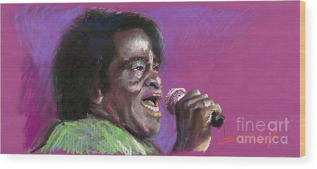 Jazz Wood Print featuring the painting Jazz. James Brown. by Yuriy Shevchuk