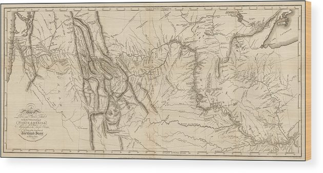 image regarding Lewis and Clark Printable Map identify Antique Map - Lewis And Clarks Keep track of Throughout North The usa Wooden Print