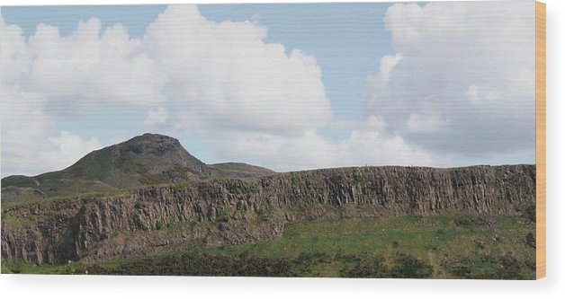 Landscape Wood Print featuring the photograph Arthurs Seat by Martina Fagan