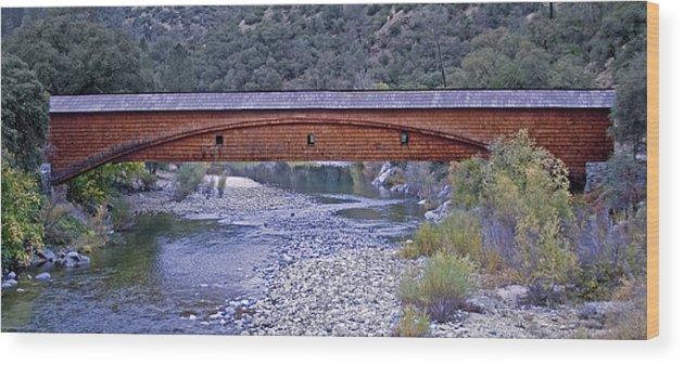 Bridge Wood Print featuring the photograph Bridgeport Covered Bridge by BuffaloWorks Photography
