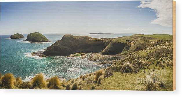 Tasmania Wood Print featuring the photograph Cape Grim Cliff Panoramic by Jorgo Photography - Wall Art Gallery