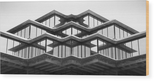 San Diego Wood Print featuring the photograph Geisel Library by William Dunigan
