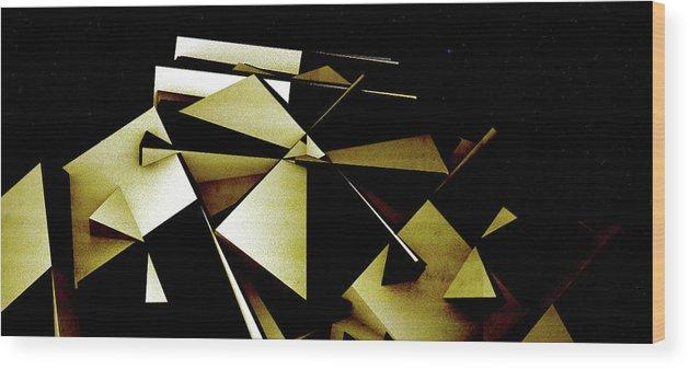 Robot Wood Print featuring the digital art X Robot by David BERNARD