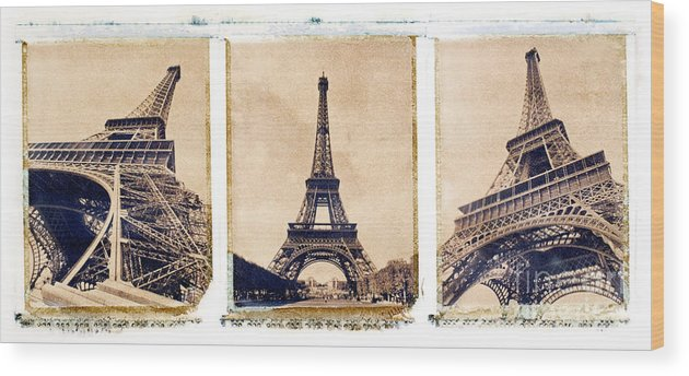 Eiffel. Tower Wood Print featuring the photograph Eiffel Tower by Tony Cordoza