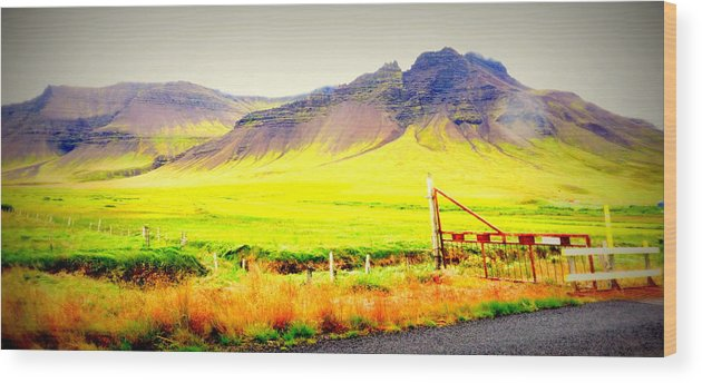 Iceland Wood Print featuring the photograph Morning Has Broken And It Will Probably Break Again by Hilde Widerberg
