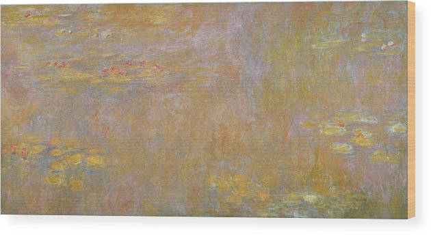 Monet Wood Print featuring the painting Waterlilies by Claude Monet
