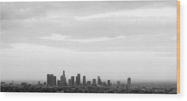 Downtown Wood Print featuring the photograph Downtown La by Viktor Savchenko