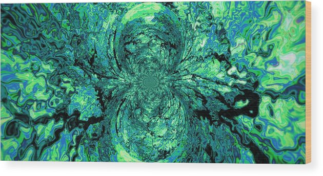 Green Wood Print featuring the digital art Green Irrevelance by Charleen Treasures