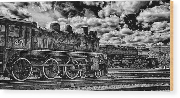 Pan Wood Print featuring the photograph Old Number 47 - Pano by Paul W Faust - Impressions of Light