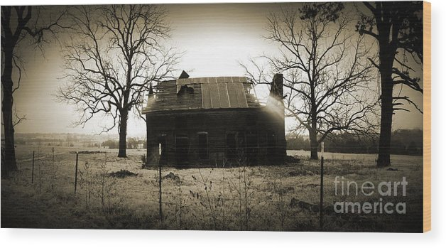 Landscape Wood Print featuring the photograph Hwy. 62 Memory by Ashley Meyer