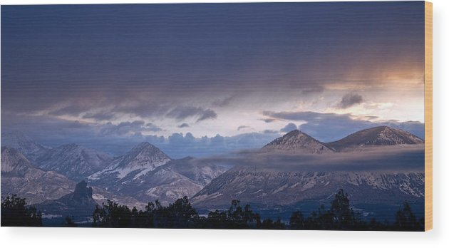 Eric Rundle Wood Print featuring the photograph West Elk Mountains First Light by Eric Rundle