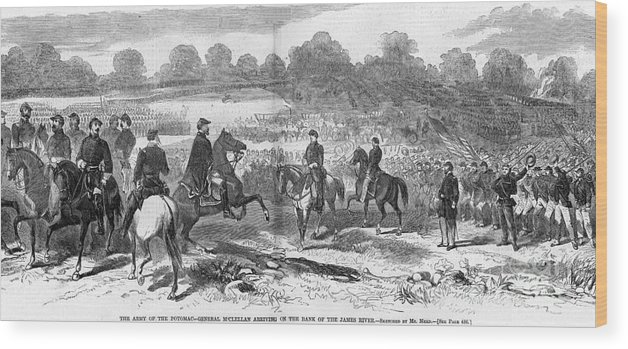 1862 Wood Print featuring the photograph Seven Days Battles, 1862 by Granger