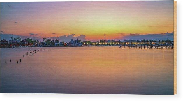 Washington Wood Print featuring the photograph Washington Sunrise by Robert Mullen