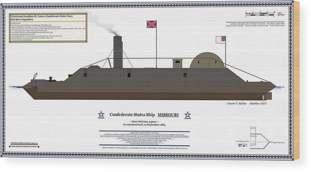 Navy Wood Print Featuring The Digital Art Css Missouri Color Profile By Saxon Bisbee