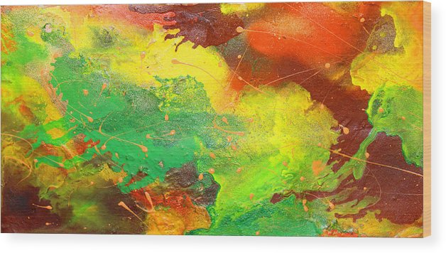 Discount Wood Print featuring the painting Autumn Grace by Julia Fine Art And Photography