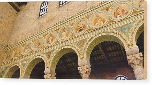 Basilica Di Sant'apollinare Nuovo Wood Print featuring the photograph Basilica Di Sant' Apollinare Nuovo - Ravenna Italy by Jon Berghoff