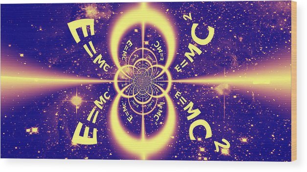 Einstein Wood Print featuring the digital art Einstein's Universe 3 by Aurelio Zucco