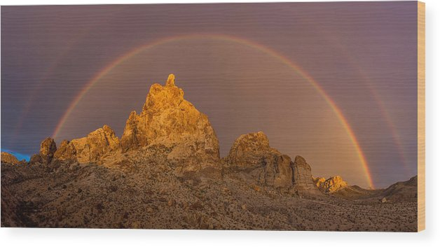 Rainbow Photographs Wood Print featuring the photograph Monsoon Majesty by James Dudrow