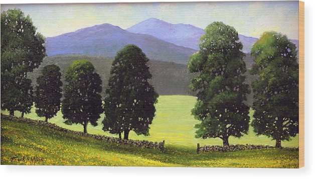Landscape Wood Print featuring the painting Old Wall Old Maples by Frank Wilson